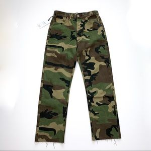 RARE RE/DONE | Camo High Rise Stove Pipe Jeans